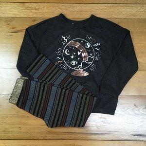 NWT Gymboree Girls Sweater Shirt and Legging Outfi